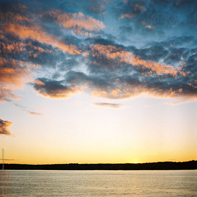 Sunset on Stockholm Archipelago by Andrew Spencer for Stocksy United