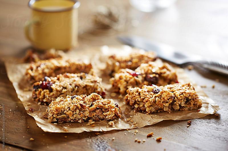Homemade granola bars by Martí Sans for Stocksy United