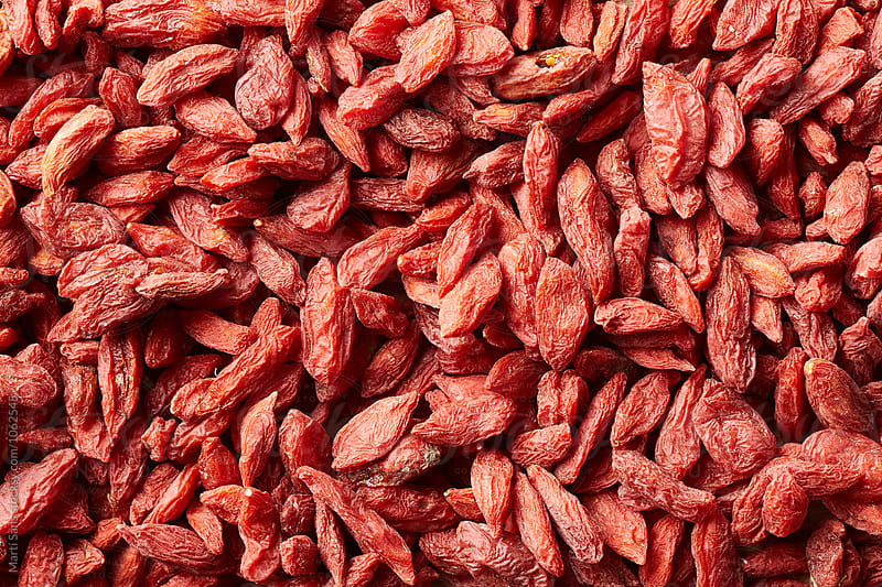 Background of dried goji berries by Martí Sans for Stocksy United