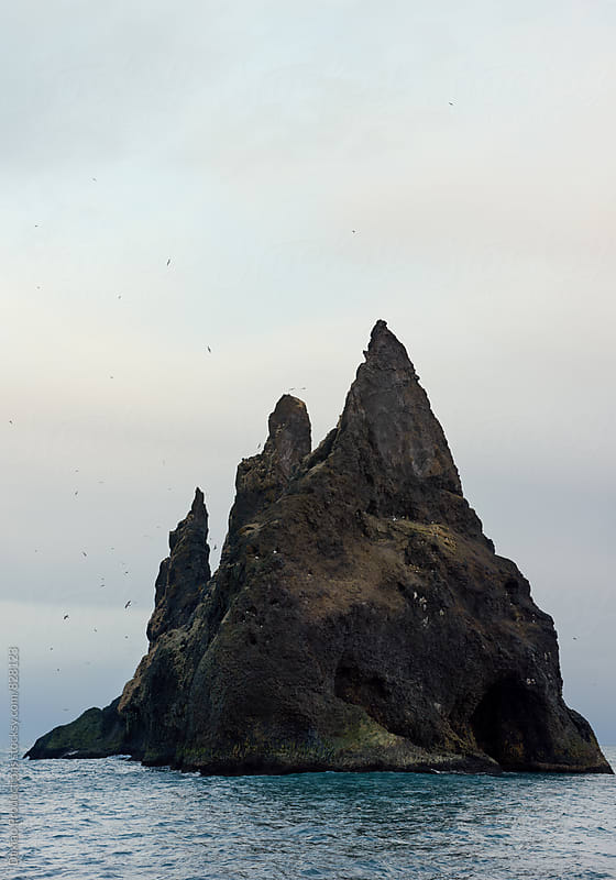 Reynisdrangar sea stacks by Daxiao Productions for Stocksy United