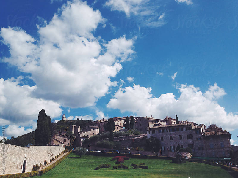Travel and landscape views of Assisi, Italy by Greg Schmigel for Stocksy United