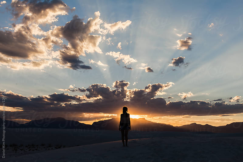 White Sands Sunset by Daniel Kim Photography for Stocksy United