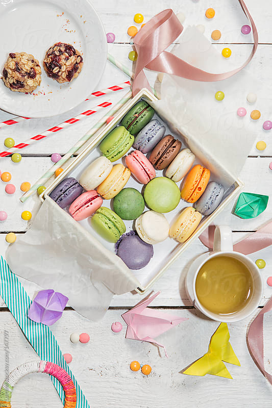 Colourful Macarons by Lumina for Stocksy United