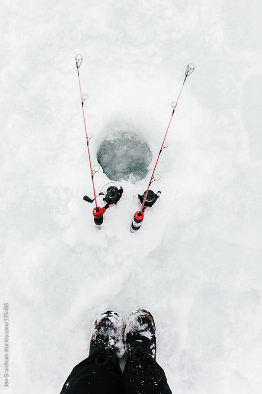Ice Fishing by Jen Grantham for Stocksy United