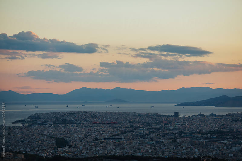 Sunset in Athens by Aaron Thomas for Stocksy United
