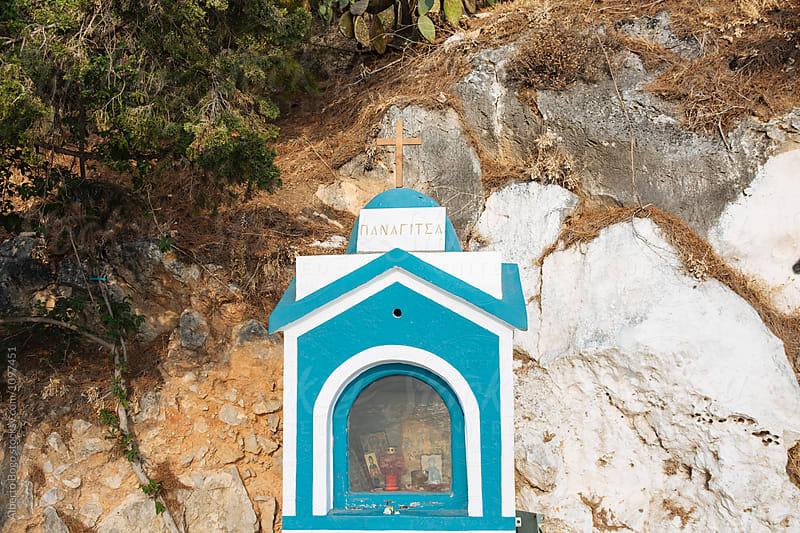 Close-up of church altar in Greece by Alberto Bogo for Stocksy United