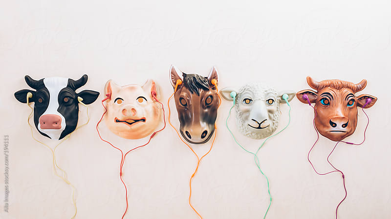 Five Farm Animal Friends Listening to Music by Aila Images for Stocksy United