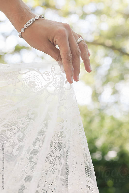 Wedding Dress Detail by VISUALSPECTRUM for Stocksy United
