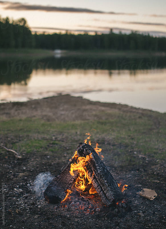 Campfire Vertical by Jake Elko for Stocksy United