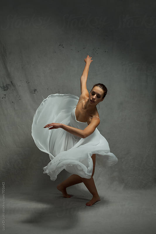 Young Beautiful Woman Ballerina Dancer by Luca Di Lotti for Stocksy United