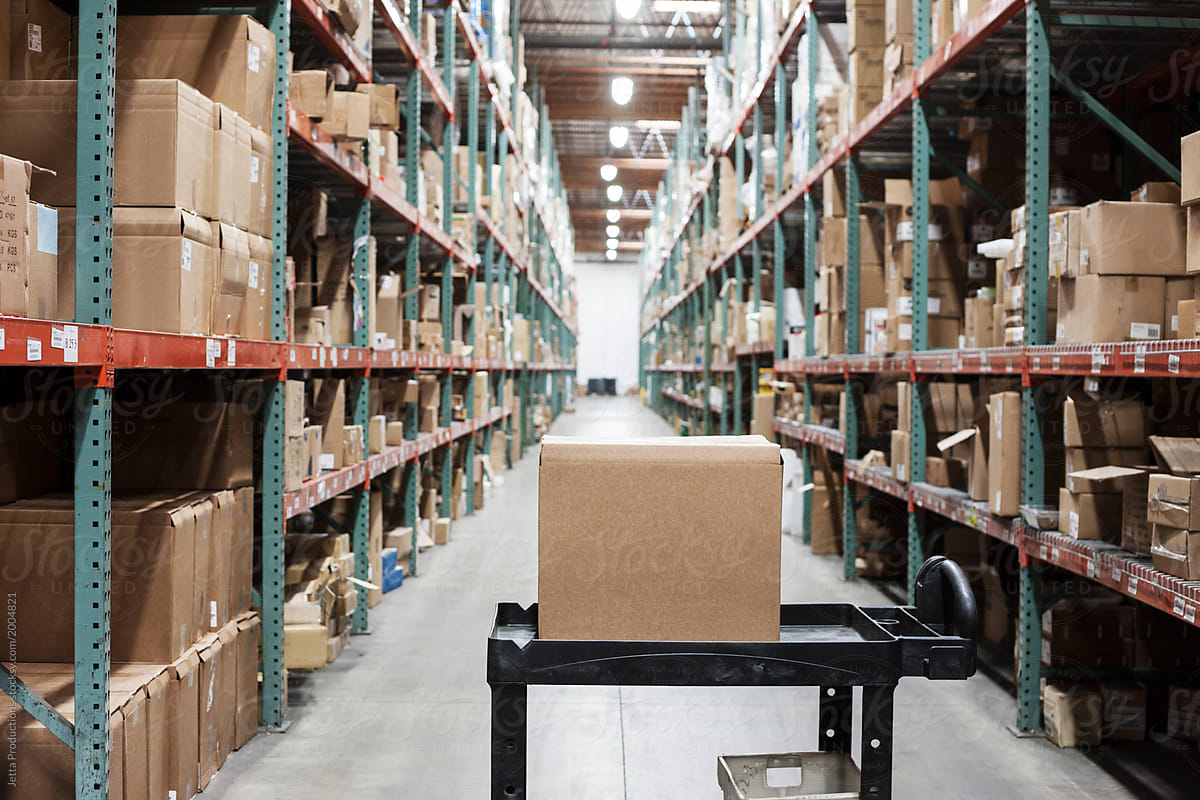 Stock Photo - Warehouse Distribution Center