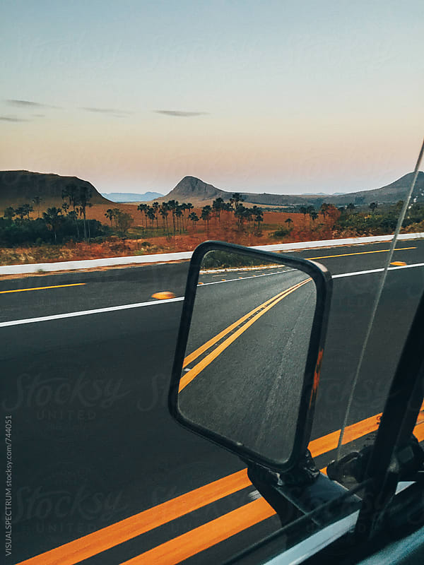Driving Through Stunning National Park Landscape (Chapada dos Veadeiros, Brazil) by Julien L. Balmer for Stocksy United