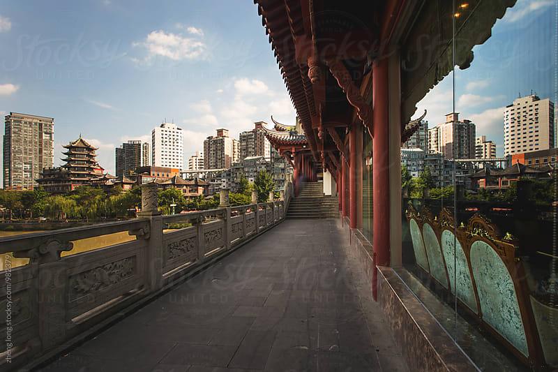 corridor bridge  by zheng long for Stocksy United
