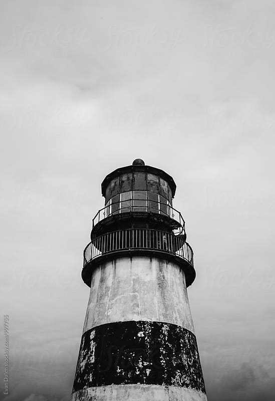 Old Weathered Lighthouse by Evan Dalen for Stocksy United