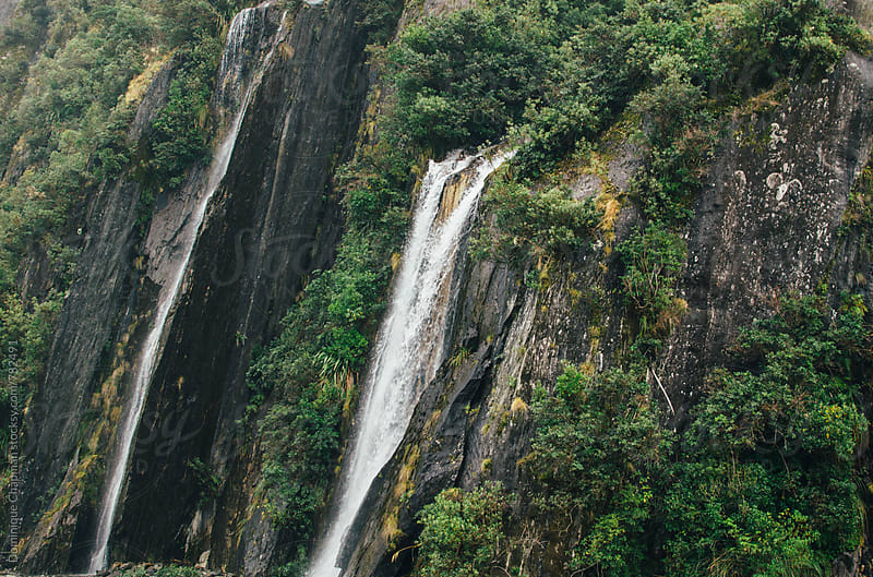 Waterfalls in New Zealand by Dominique Chapman for Stocksy United