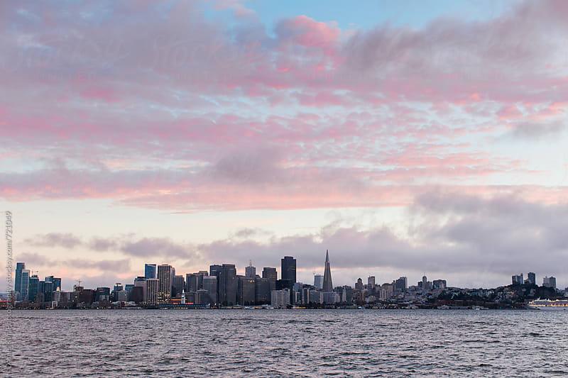 San Francisco city skyline by Daniel Kim Photography for Stocksy United