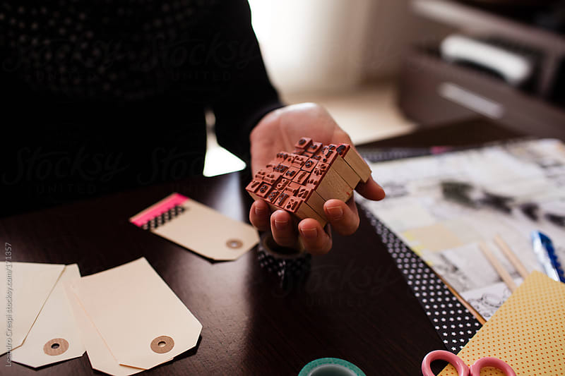 Rubber letter stamp by Leandro Crespi for Stocksy United