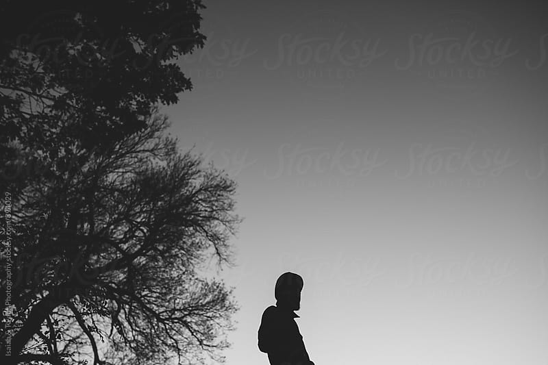 Man Silhouette in Nature by Isaiah & Taylor Photography for Stocksy United