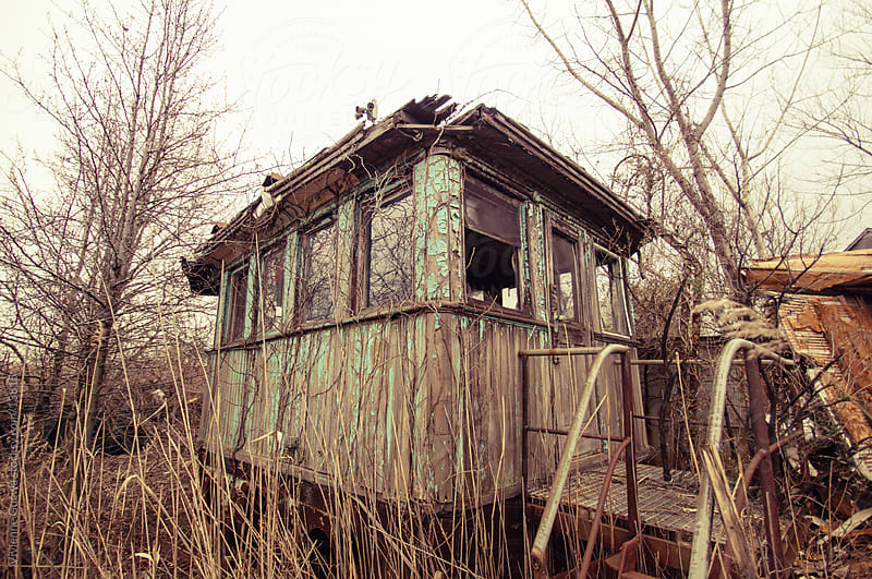 Abandoned Shipyard: Stranded Ship Cabin with Peeling Paint by Vivienne Gucwa for Stocksy United