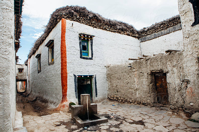Old traditional mud houses of Lo Manthang, Upper Mustang, Nepal. by Shikhar Bhattarai for Stocksy United
