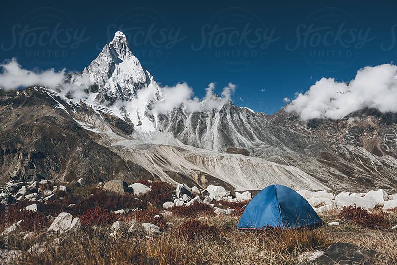 camping at altitude by RG&B Images for Stocksy United