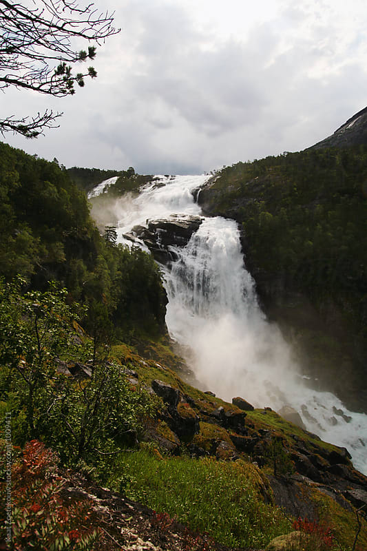Norway Waterfall by Kaat Zoetekouw for Stocksy United
