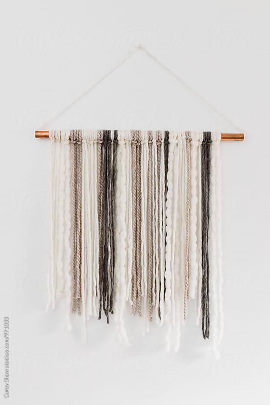 Modern DIY yarn hanging by Carey Shaw for Stocksy United