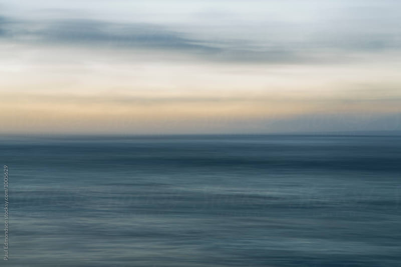 Long exposure abstract of ocean and surf, Oahu, Hawaii by Paul Edmondson for Stocksy United