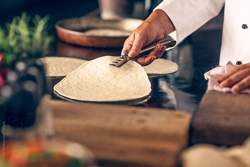 Chef Baking Tortillas by Lumina for Stocksy United