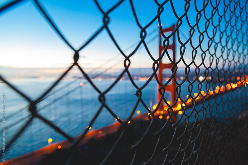 Golden Gate Bridge at Night by Good Vibrations Images for Stocksy United