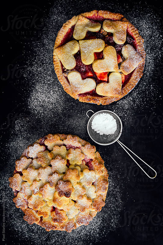 Pie with fruits and marzipan by Pixel Stories for Stocksy United