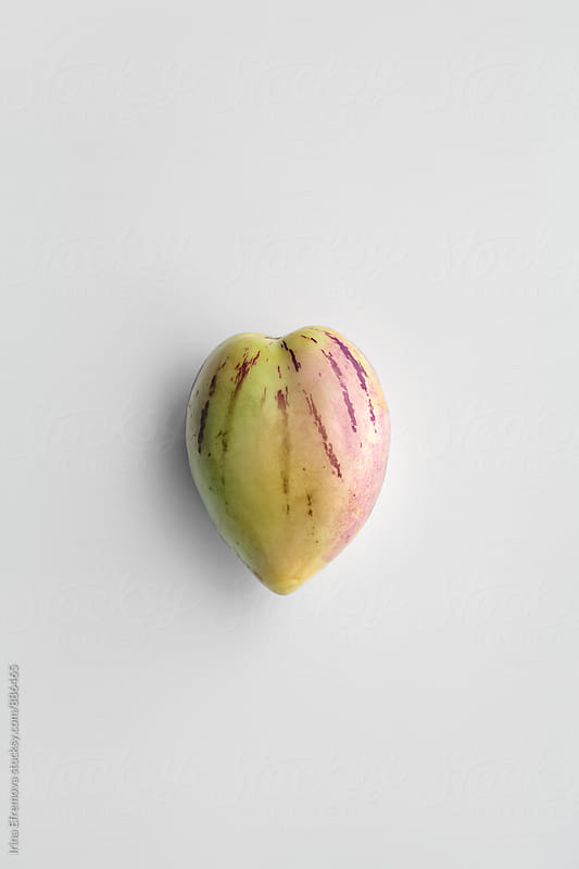 Heart shaped single sweet pepino by Irina Efremova for Stocksy United