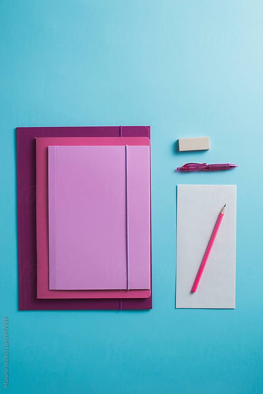 Office Supplies From Above by Mosuno for Stocksy United