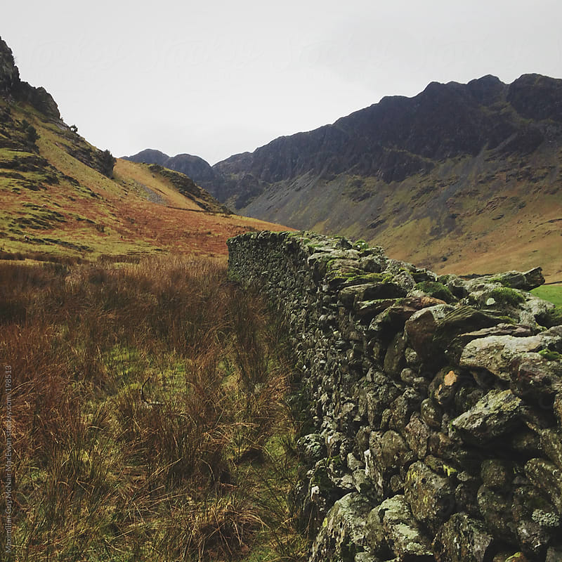 A rock wall in the Lake District by Maximilian Guy McNair MacEwan for Stocksy United