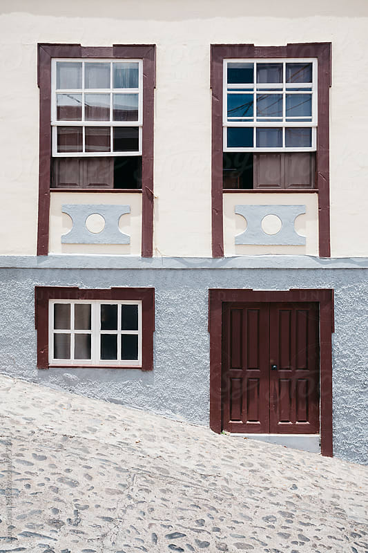 Building and street. La Palma, Canary Island. by Liam Grant for Stocksy United