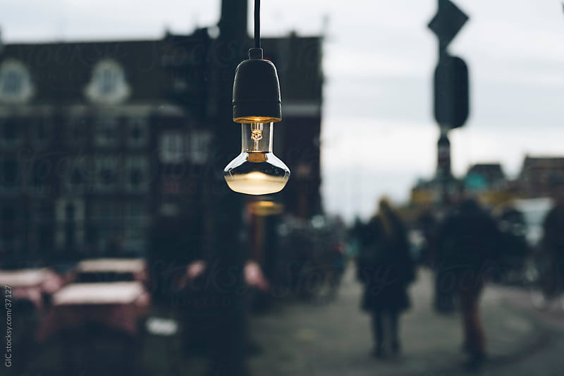 Light bulb in the city by GIC for Stocksy United