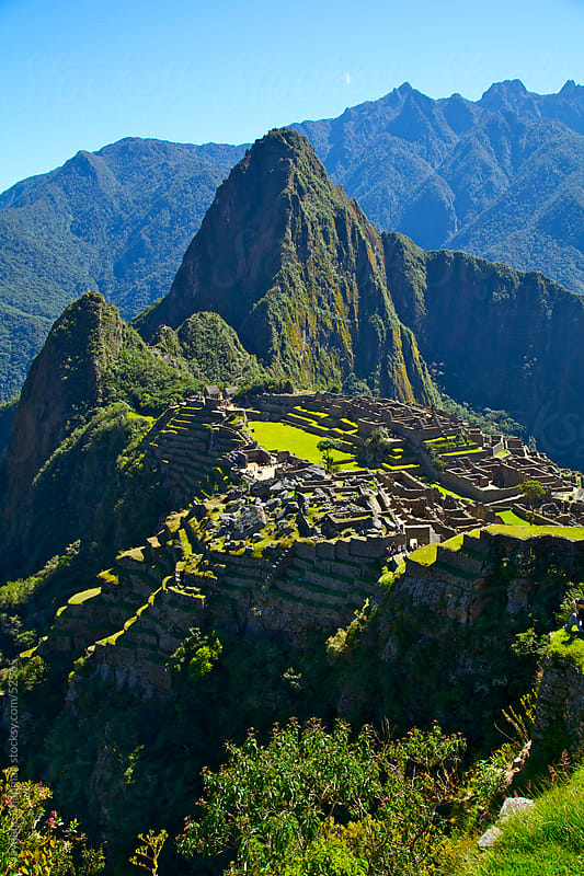 Amazing view point down the valley to the Machu Picchu ruins, Unesco World Heritage Site, Peru  by Jaydene Chapman for Stocksy United