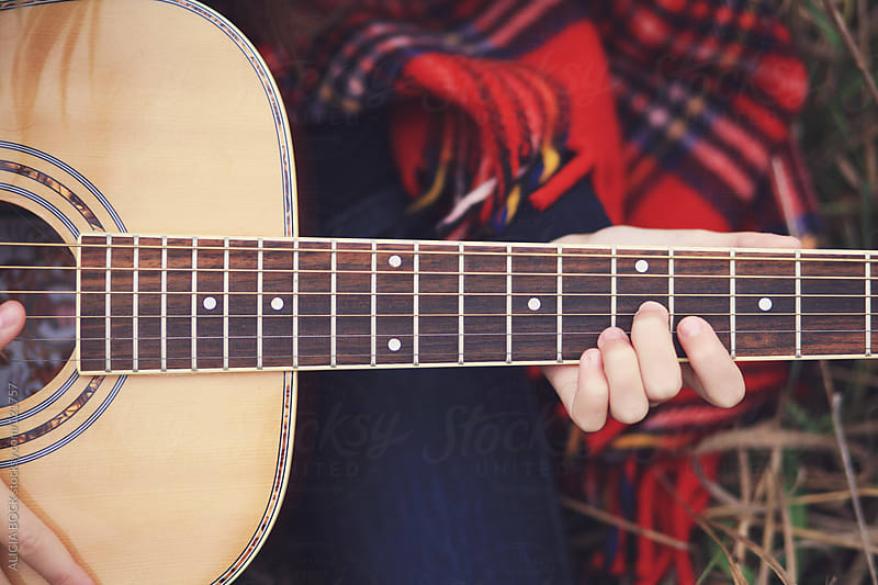 Guitar Playing by ALICIA BOCK for Stocksy United