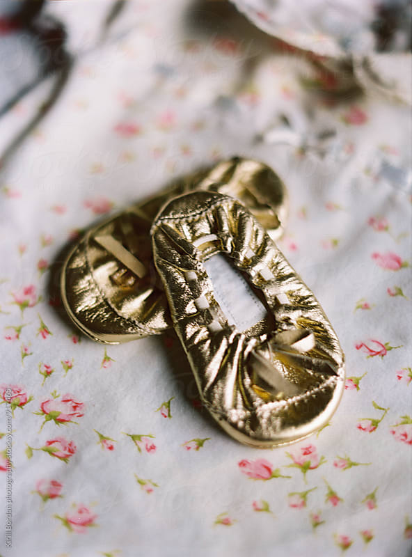 baby ballet shoes by Kirill Bordon photography for Stocksy United