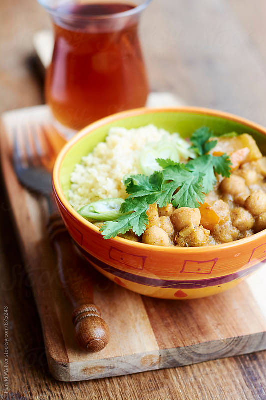 Moroccan Spiced Pumpkin and Chickpeas Stew with Couscous by Harald Walker for Stocksy United