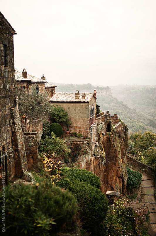 Italian village on top of a hill in Tuscany by Kristen Marie Parker for Stocksy United
