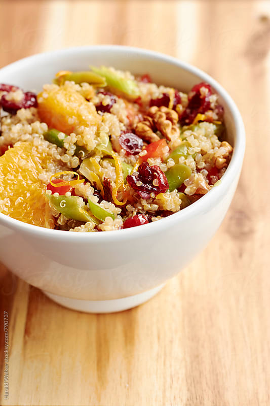 Quinoa Walnut Salad with Green Beans and Crannberries by Harald Walker for Stocksy United