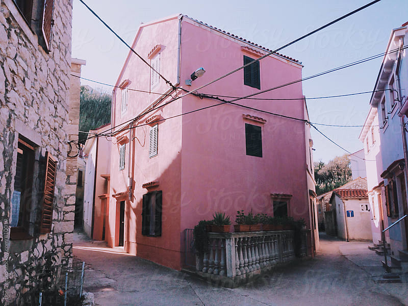 Pink house by Bor Cvetko for Stocksy United