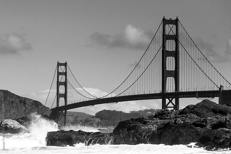 Golden Gate Bridge in B&W by James Tarry for Stocksy United