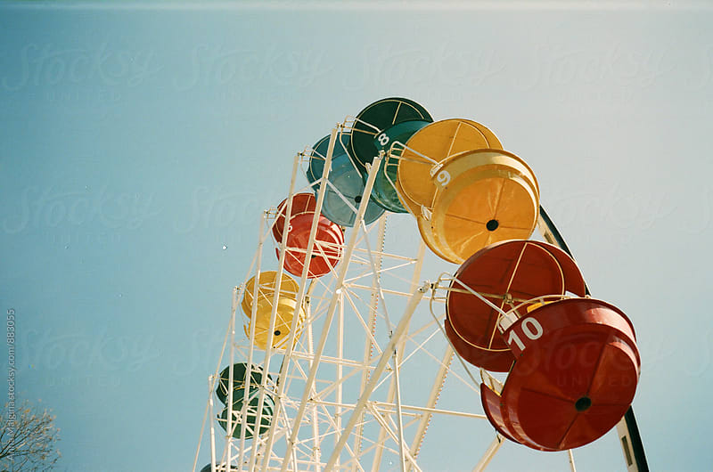 A film photo of the observation wheel by Anna Malgina for Stocksy United