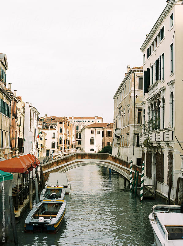 Bridge across canal in Venice by Kirstin Mckee for Stocksy United