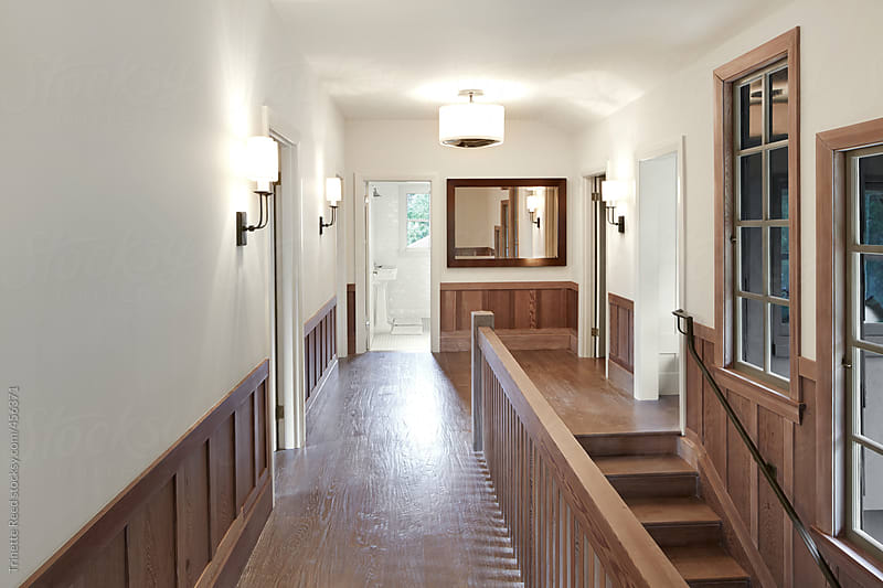 Hallway in luxury custom built home in California  by Trinette Reed for Stocksy United