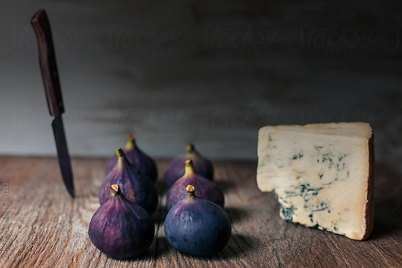 Figs and cheese by Darren Muir for Stocksy United