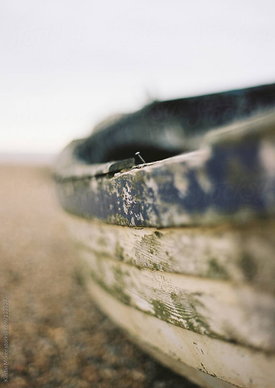 Close up of a fishing boat at Aldeburgh by Kirstin Mckee for Stocksy United