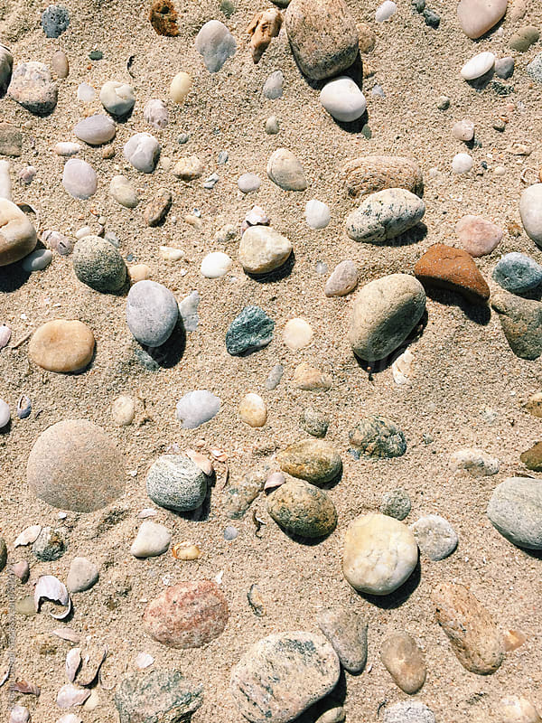 Rocky beach texture. Long Island, New York. by Kristin Duvall for Stocksy United